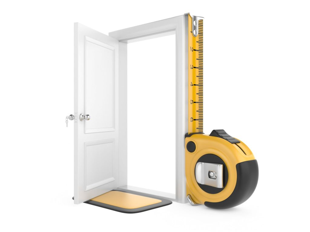 measuring door